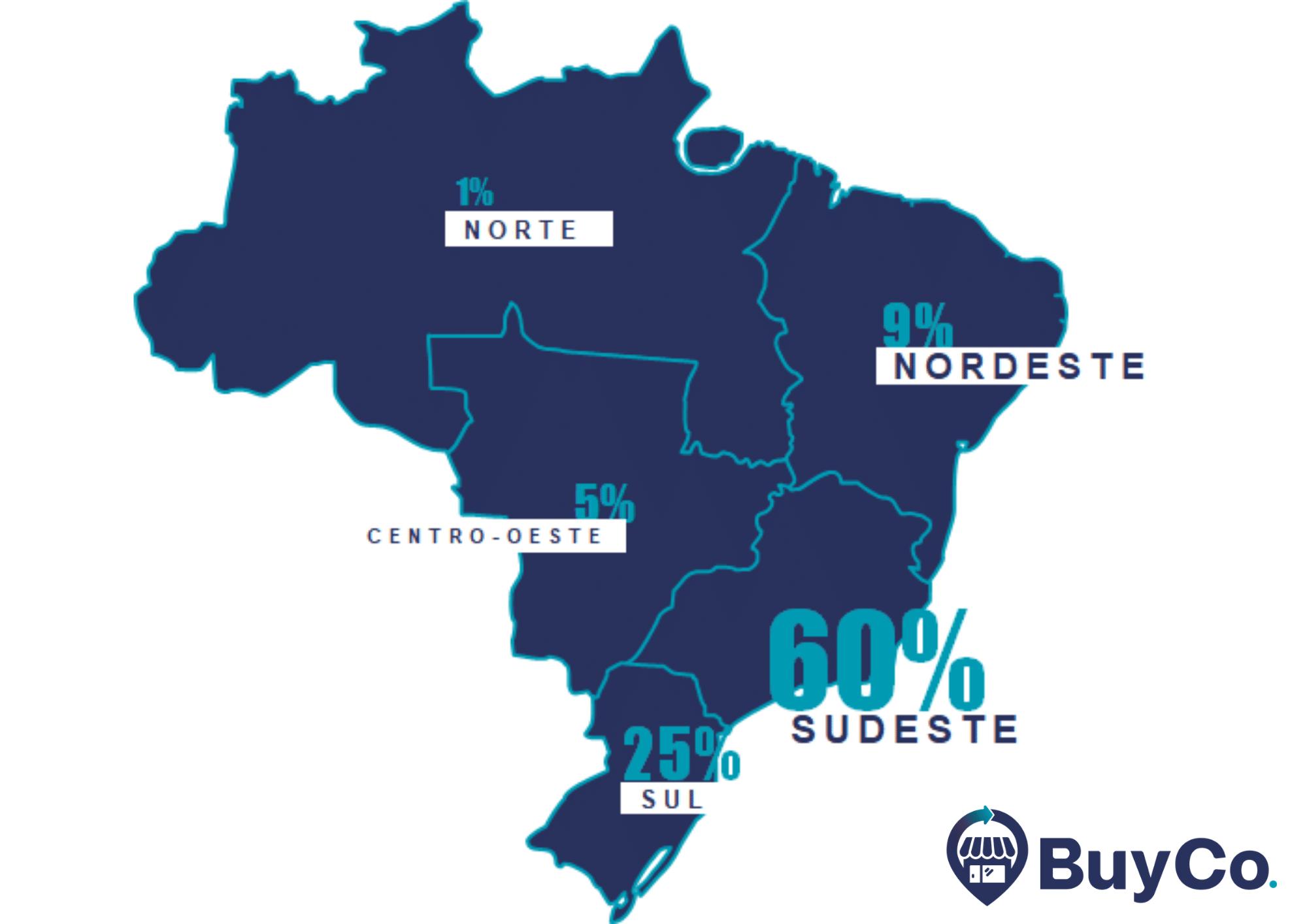 mapa-do-brasil-representando-o-mercado-de-restaurantes-distribuidos-por-regiao